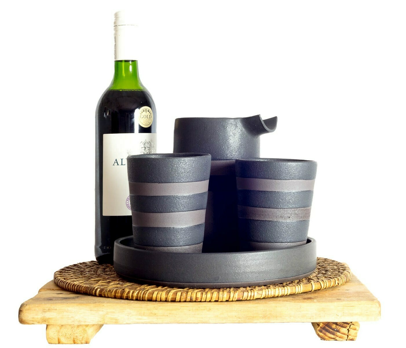 Set - Drinks - Sml - Wine/Water - Glasses - Striped