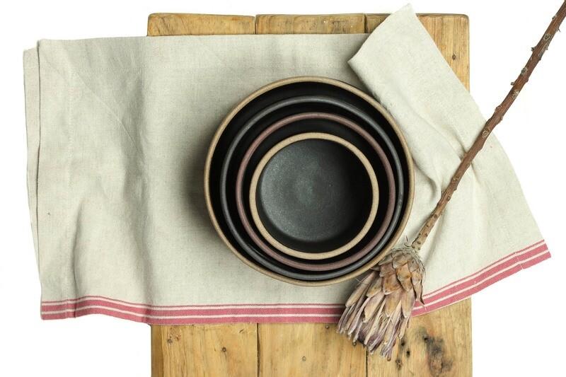 Set - Bowls - Cut Out Handle ( 4 Bowls)