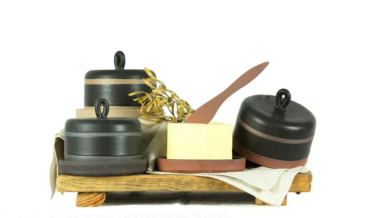 Set - Butter Dish & Tray