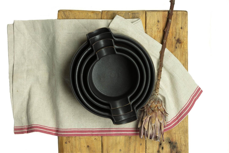 Set - Bowls - Side Handle ( 4 Bowls)
