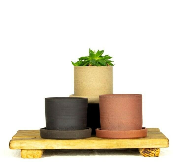 Planter + Tray - Sml - Short