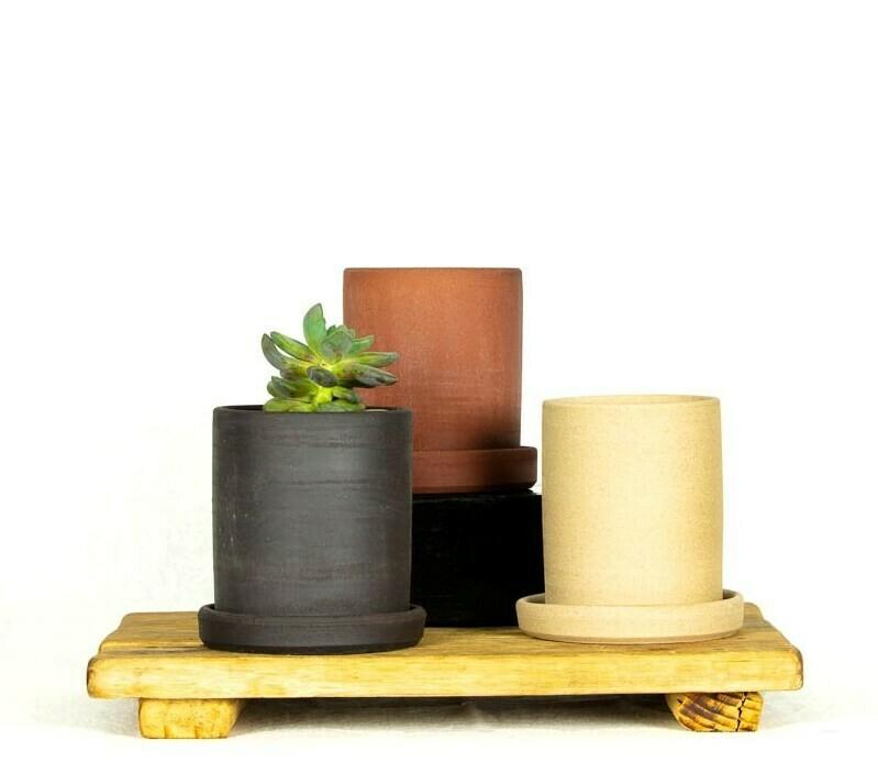 Planter + Tray - Sml - Tall