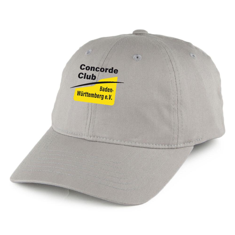 Nr.05 Kappe hellgrau mit CCBW Bestickung Größe einstellbar