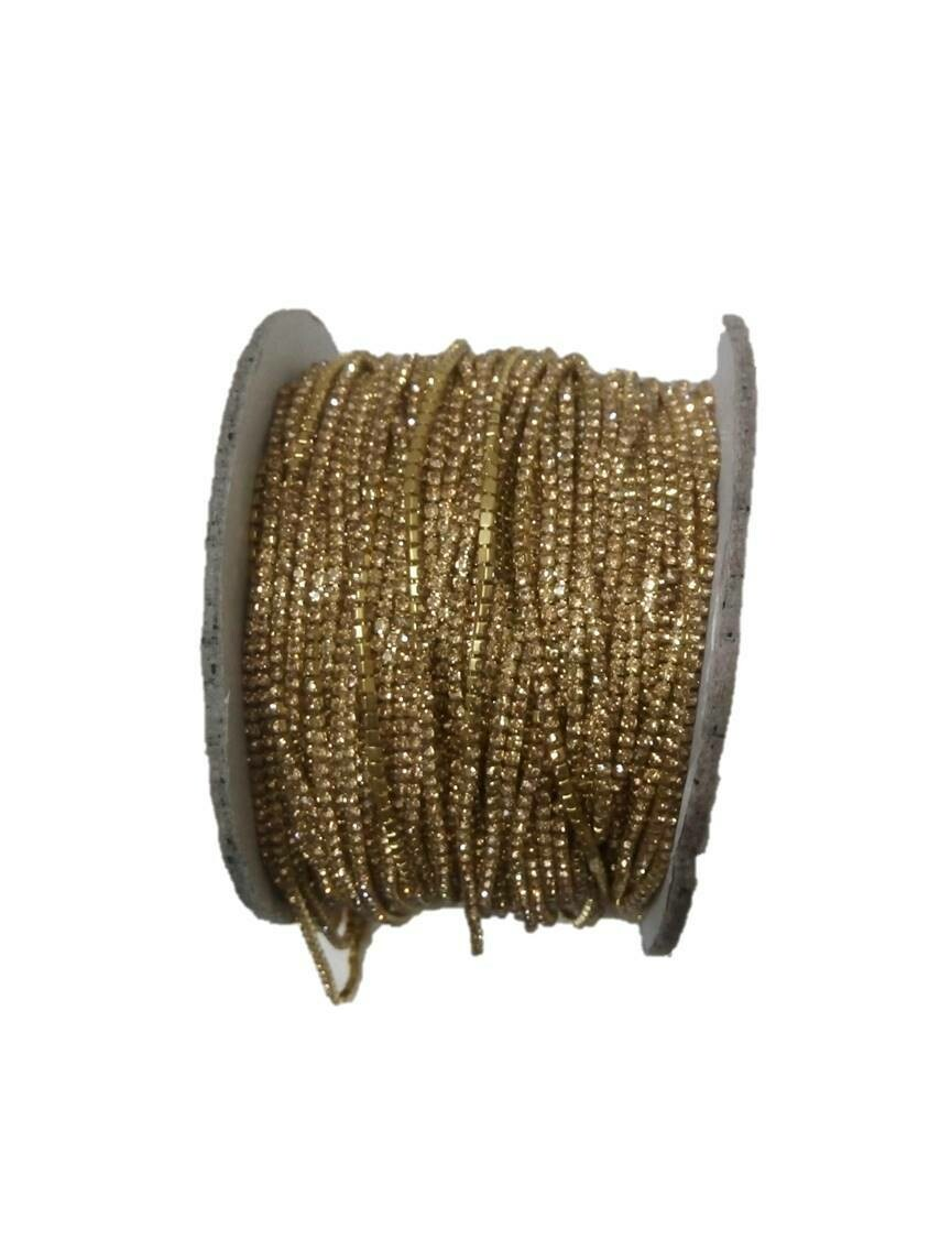 STONE LACE GOLD COLOR 10METERS