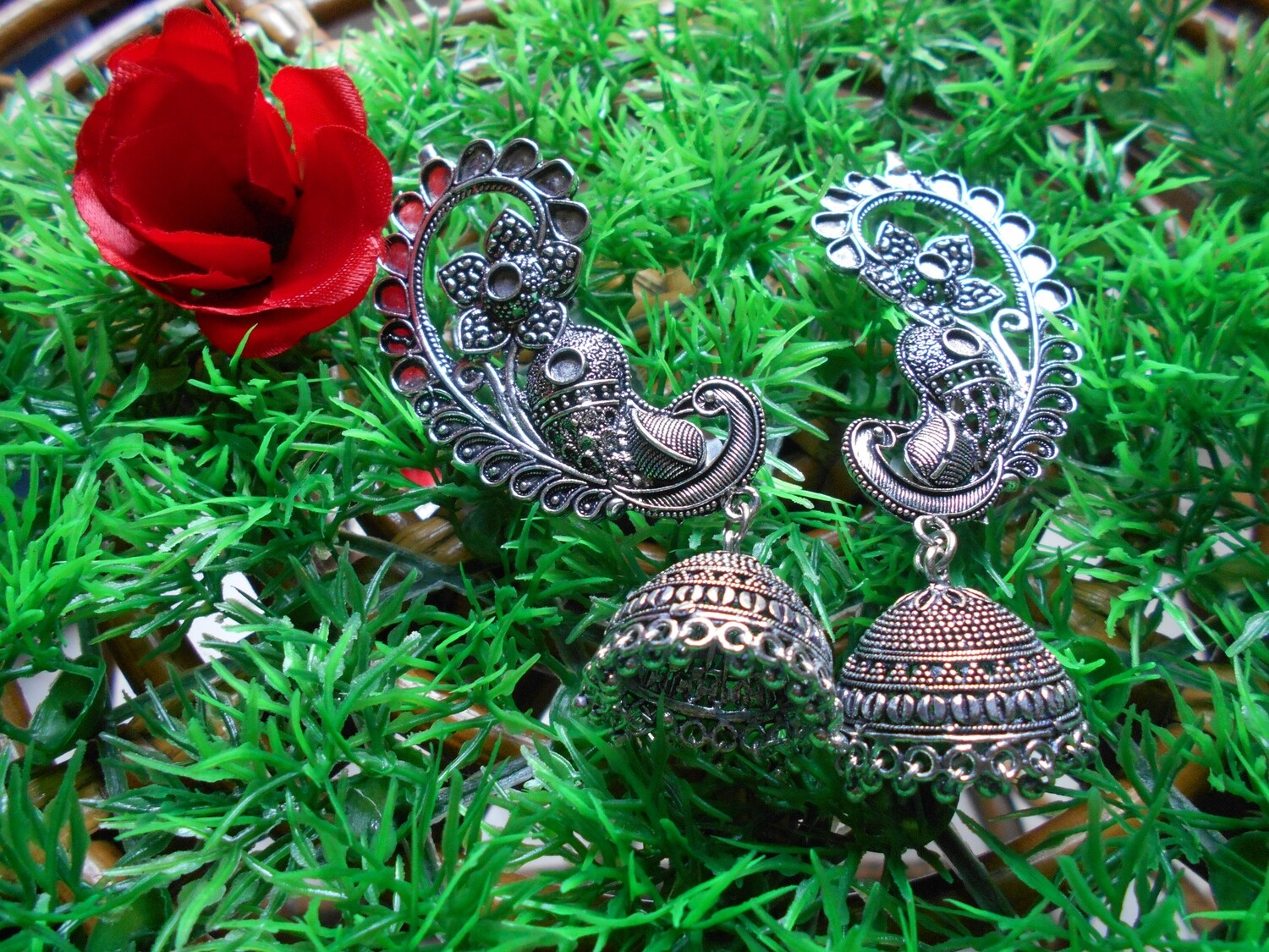 GS BLUETOOTH EAR RINGS WITH JHUMKAS