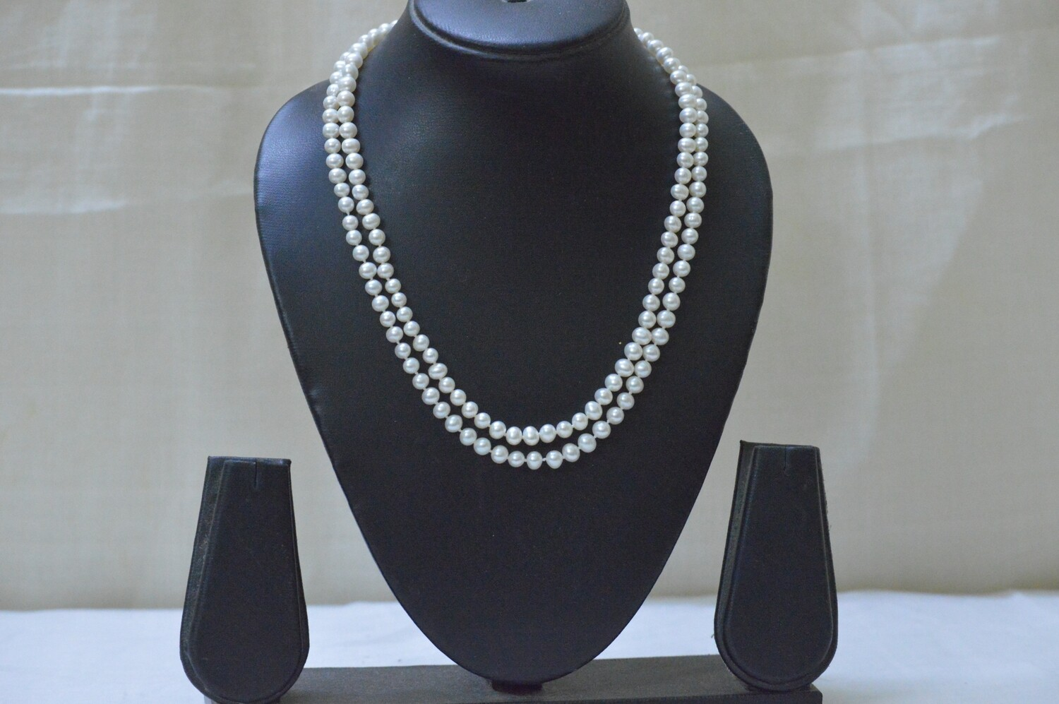 TWO LINE FRESHWATER CULTURED PEARL NECKLACE