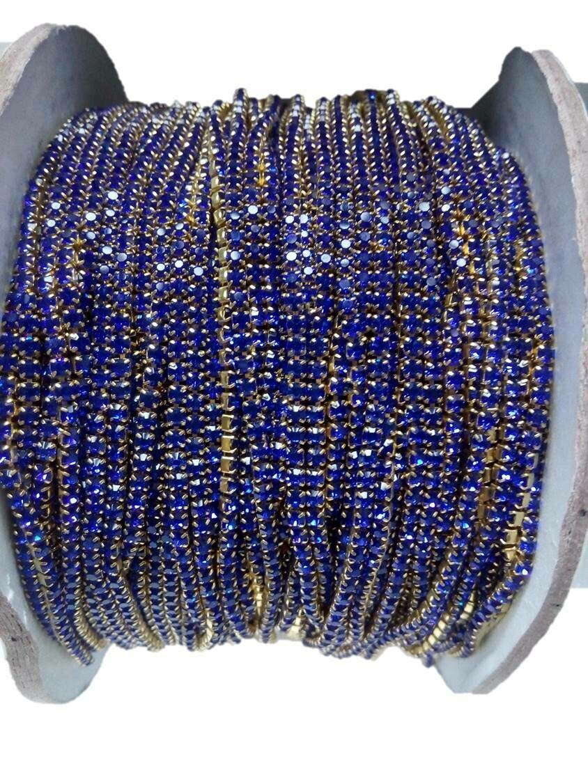 BLUE COLOR STONE  LACE FOR JEWELLERY MAKING