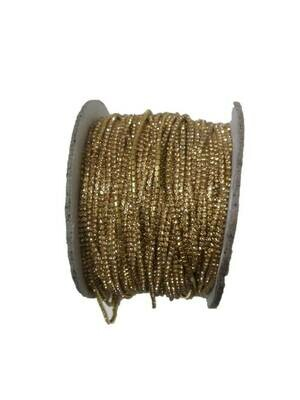 GOLD COLOR STONE  LACE FOR JEWELLERY MAKING