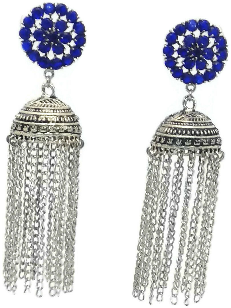 BLUE STONE EAR RING HANGINGS