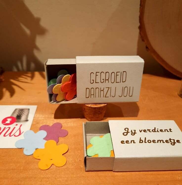 Mini doosje met groeiconfetti