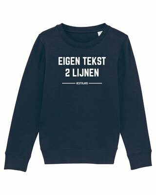 Kids Sweater eigen tekst
