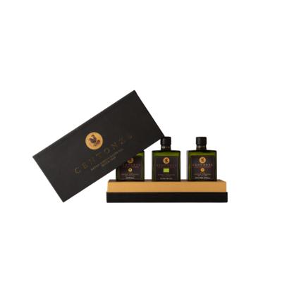 Cadeaubox met 3 flesjes olijfolie uit Sicilië 3x200ml