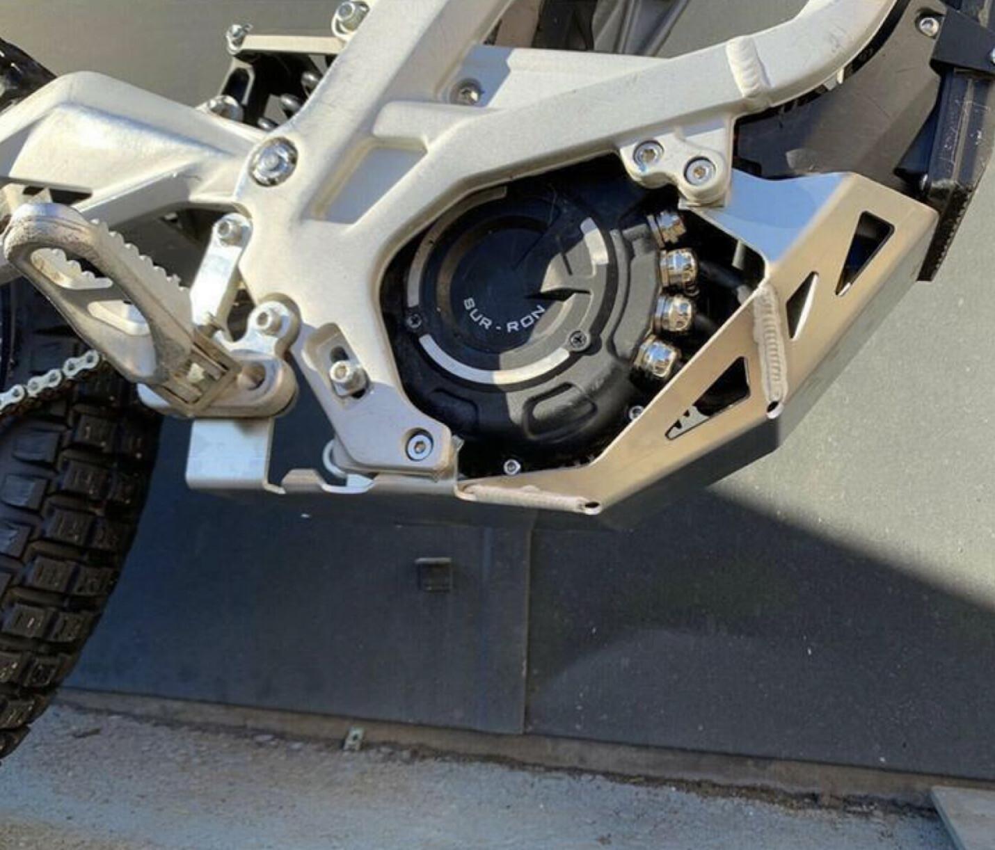 STG motor beschermplaat Aluminium