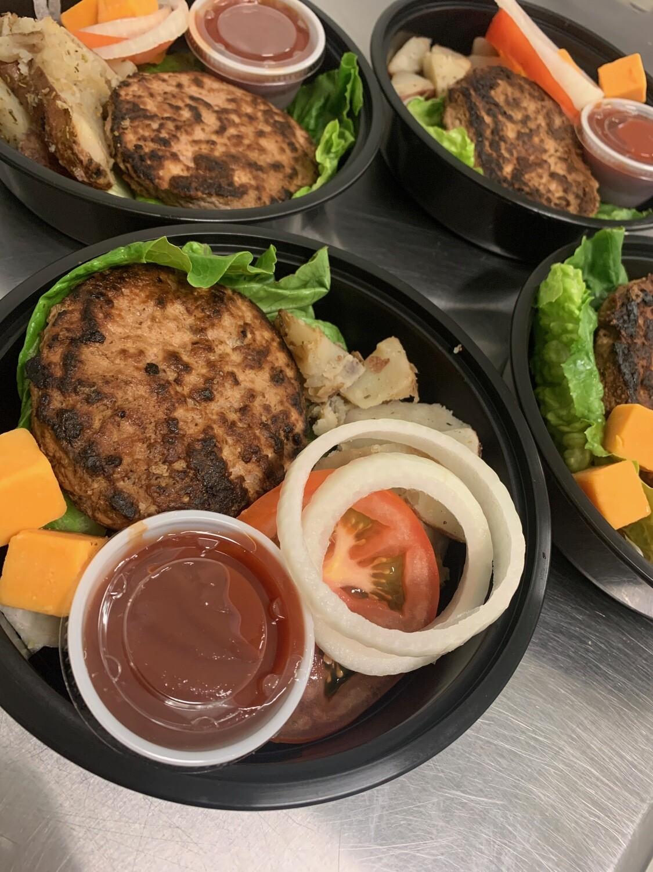 Turkey Burger Bowl