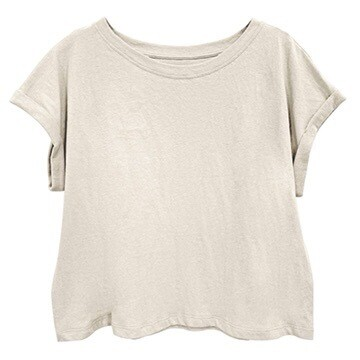 Recycled Cotton Crop Tee
