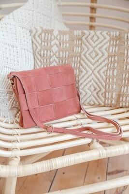Handbag Woven Pink