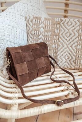 Handbag Woven Brown