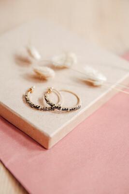 Earrings Black Pearl