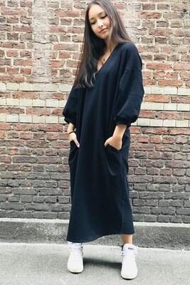 Jogging Dress V-Neck Black