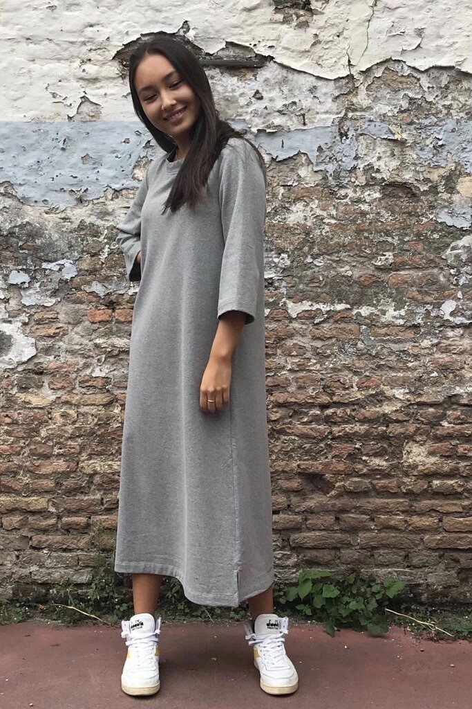 Jogging Dress Fleur Grey