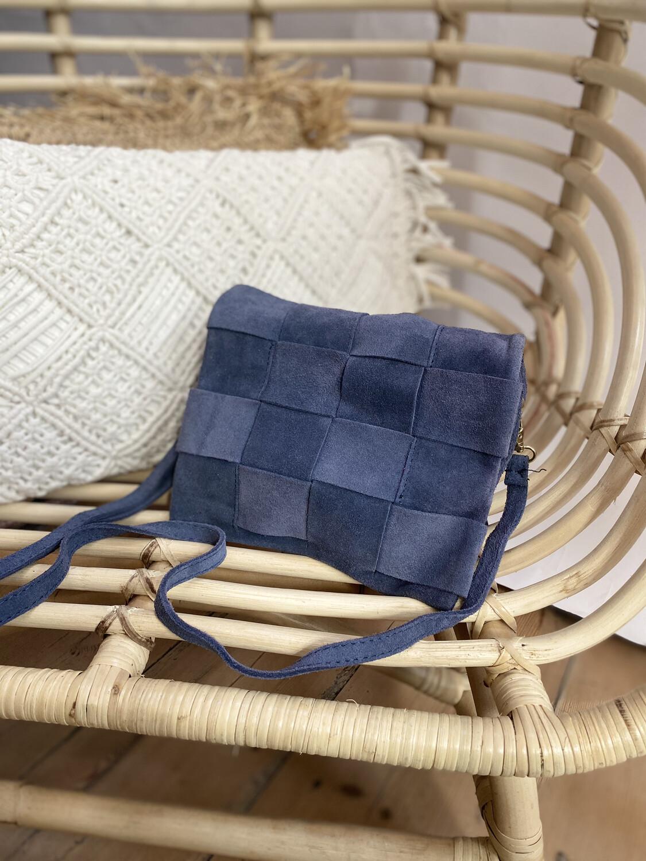 Handbag Woven Blue
