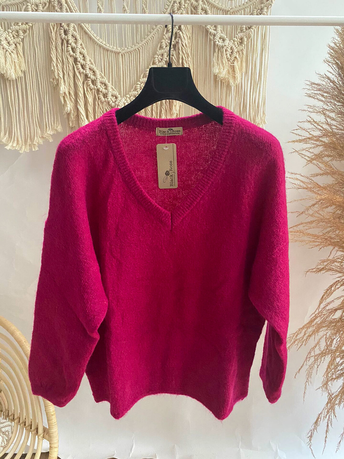 Lastra Sweater Hot Pink
