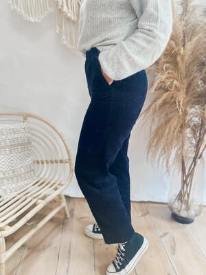 Pants Corduroy dark blue