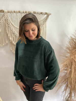 Sweater Teddy Dark green