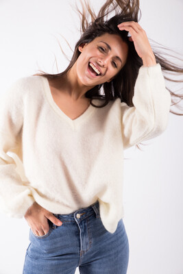 Lastra Sweater White