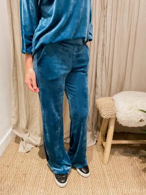 Velvet pants Sky