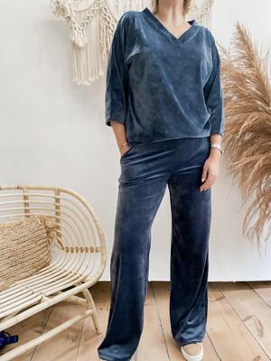 Velvet pants Blue