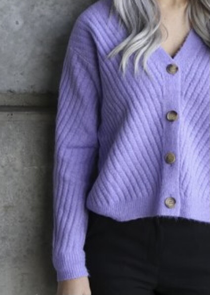 Sophia cardigan violet