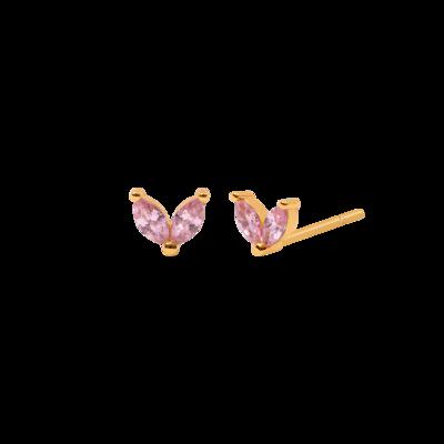Rose Zinnia Earring