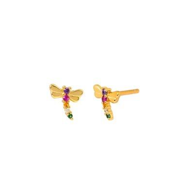 Libelium Gold Earring