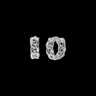 Iron Silver Earring