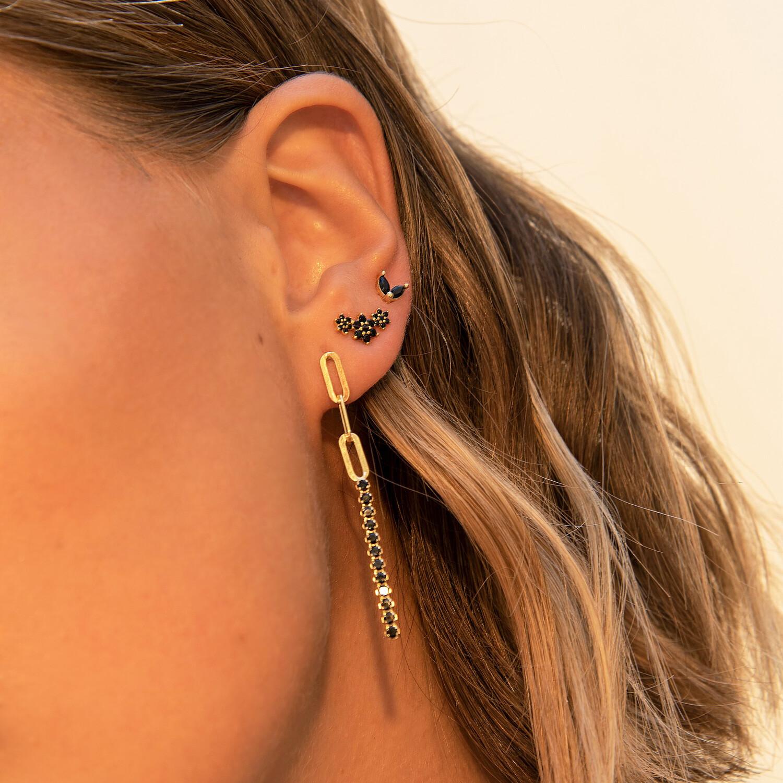 Black Roselin Gold Earring