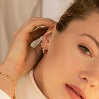 Opera Gold Earring