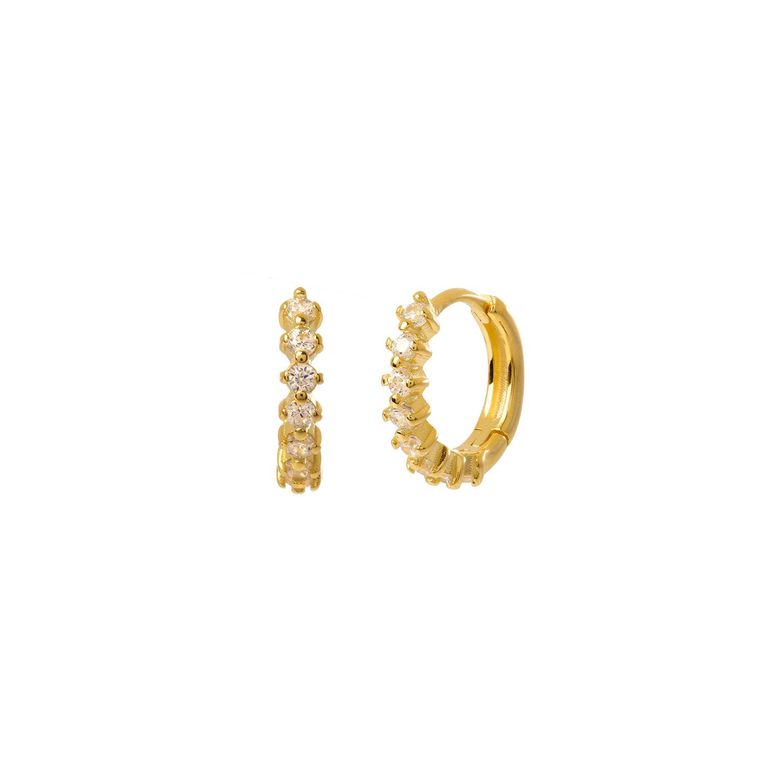 White Kensho Gold Earring