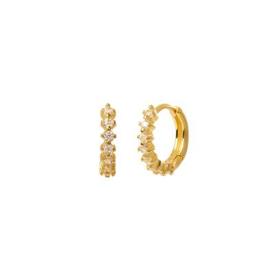 White Kensho Gold Earring