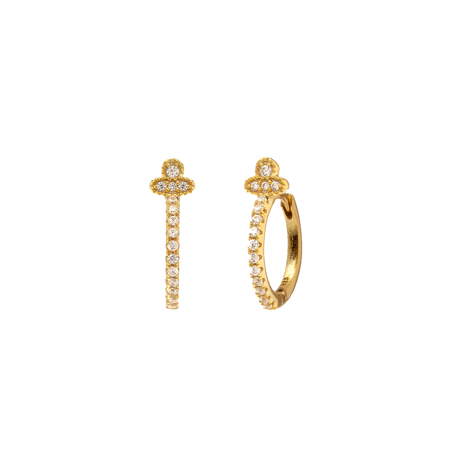 Orchid Gold Earring