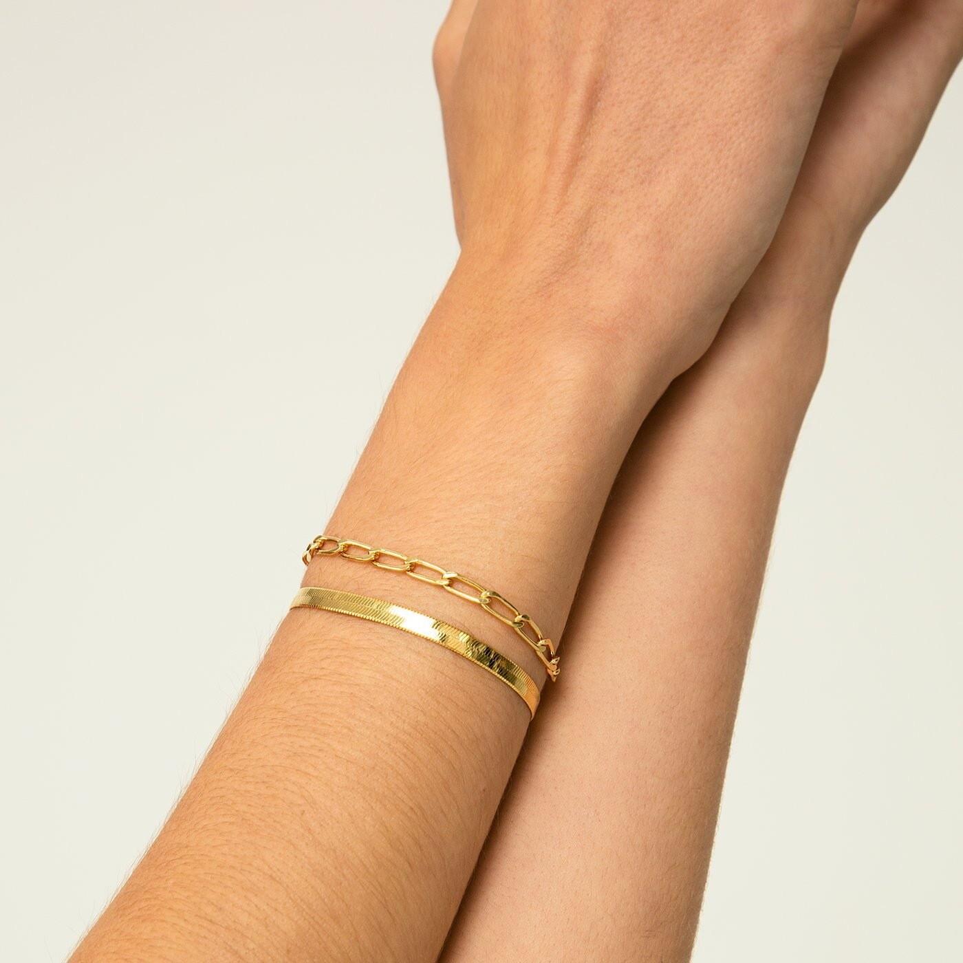 Herringbone Gold Bracelet