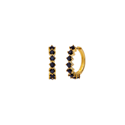 Black Kensho Gold Earring