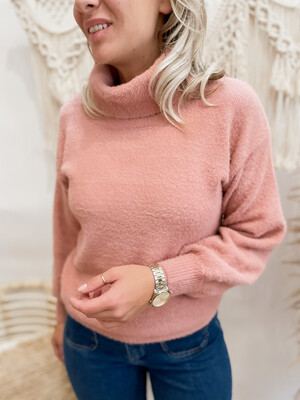 Teddy rollneck pink