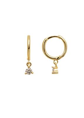 Swan Gold Earring