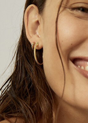 Mini Black Mamba Gold Earring