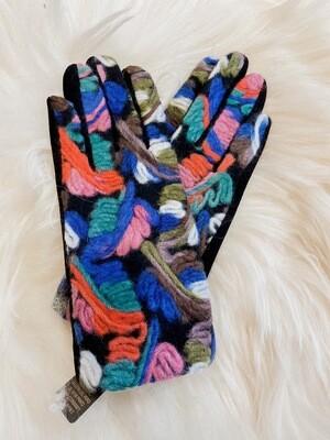 Gloves art blue