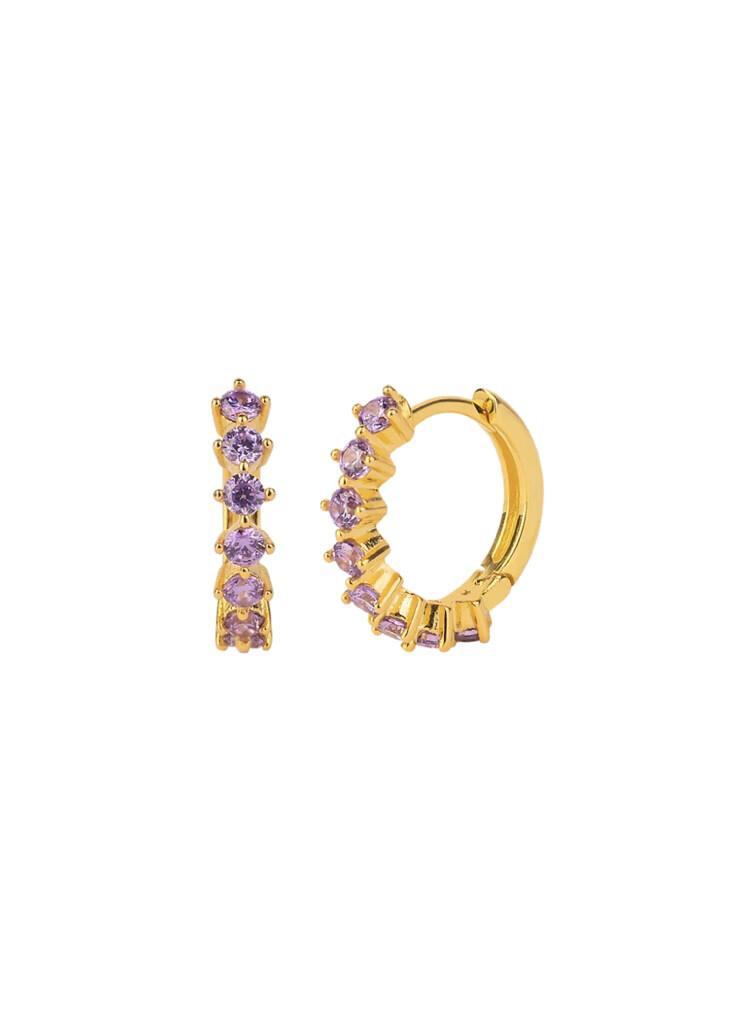 Violet Kensho Gold Earring