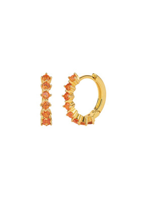 Orange Kensho Gold Earring
