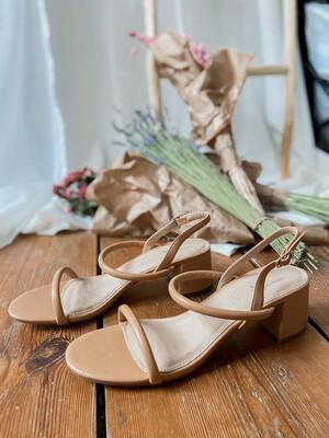 Minimalist sandal Camel