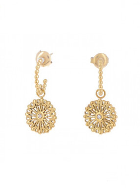 Earrings Gold Flower